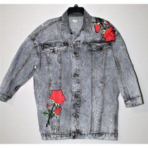 JORDACHE DIY patches denim jacket M